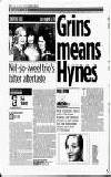 Grins means Hynes