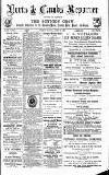 Herts & Cambs Reporter & Royston Crow Friday 23 August 1878 Page 1
