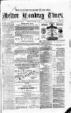 Rutland Echo and Leicestershire Advertiser Friday 02 January 1880 Page 1