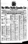 Weekly Casualty List (War Office & Air Ministry ) Tuesday 30 April 1918 Page 1