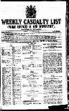 Weekly Casualty List (War Office & Air Ministry )
