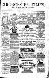 Cirencester Times and Cotswold Advertiser Monday 30 October 1871 Page 1