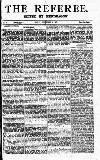 The Referee Sunday 23 September 1877 Page 1