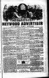 Heywood Advertiser Saturday 13 October 1855 Page 1