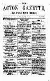 Acton Gazette Saturday 17 July 1875 Page 1