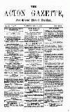 Acton Gazette Saturday 31 July 1875 Page 1