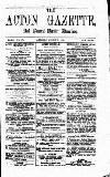 Acton Gazette Saturday 07 August 1875 Page 1