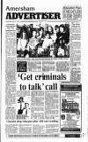 Amersham Advertiser Wednesday 10 April 1991 Page 1
