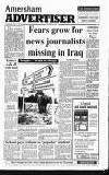 Amersham Advertiser Wednesday 01 May 1991 Page 1