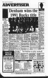 Amersham Advertiser Wednesday 28 August 1991 Page 56