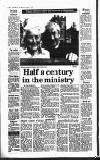 Half a century in the ministry