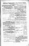 Additional Supplement to the Calcutta Gazette.