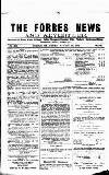 Forres News and Advertiser Saturday 29 August 1914 Page 1