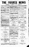 Forres News and Advertiser Saturday 06 January 1917 Page 1