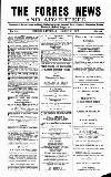 Forres News and Advertiser Saturday 11 August 1917 Page 1