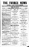 Forres News and Advertiser Saturday 08 September 1917 Page 1