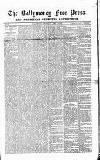 Ballymoney Free Press and Northern Counties Advertiser Thursday 03 April 1879 Page 1