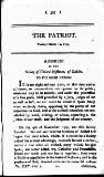 Patriot; or, Political, Moral, and Philosophical Repository Consisting of Original Pieces Tuesday 12 March 1793 Page 1